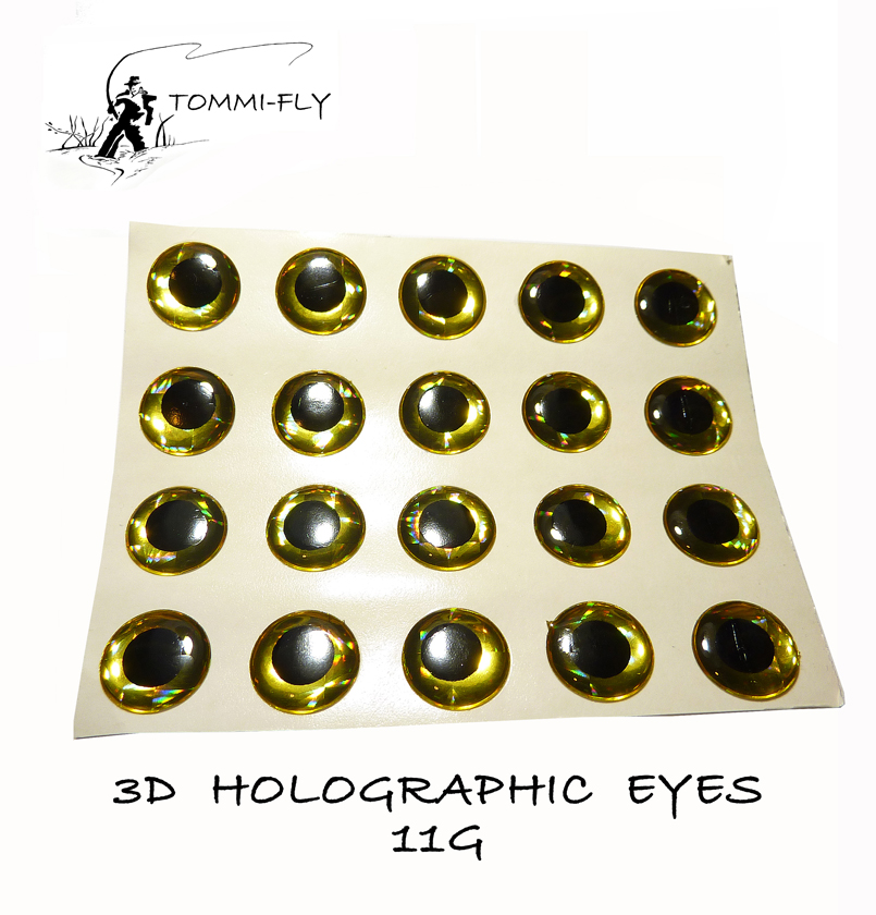 Holographic Eyes - Gold