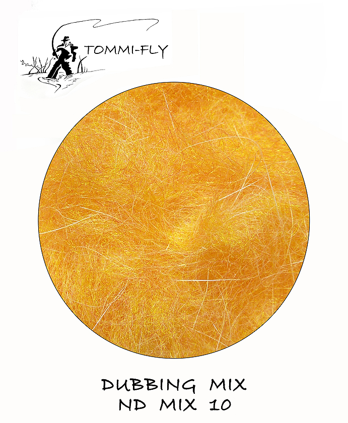NATURAL DUBBING MIX - Orange