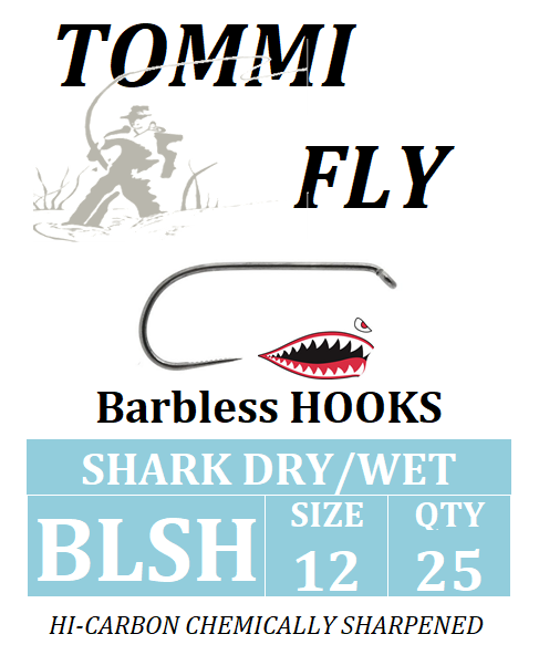FLY HOOKS SHARK DRY/WET, size 10-16