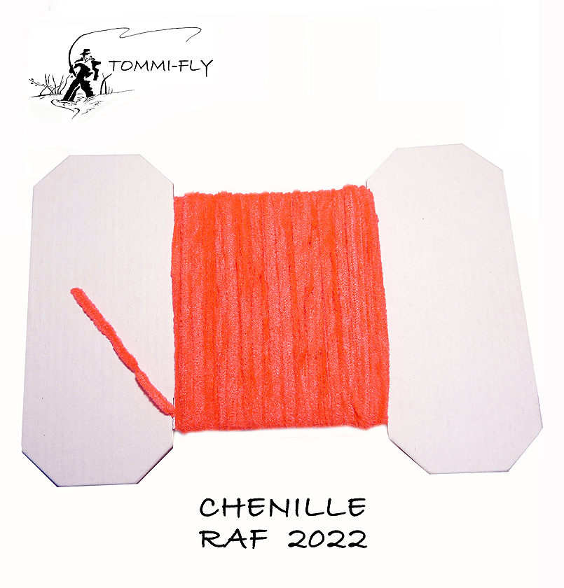 RAF CHENILLE - Fluo Red