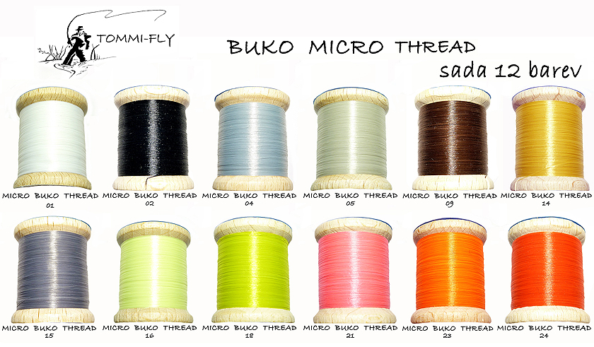 MICRO BUKO THREAD - set 12 colors