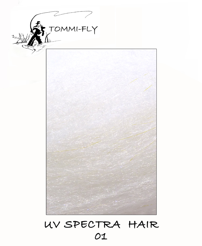 UV Spectra hair - White