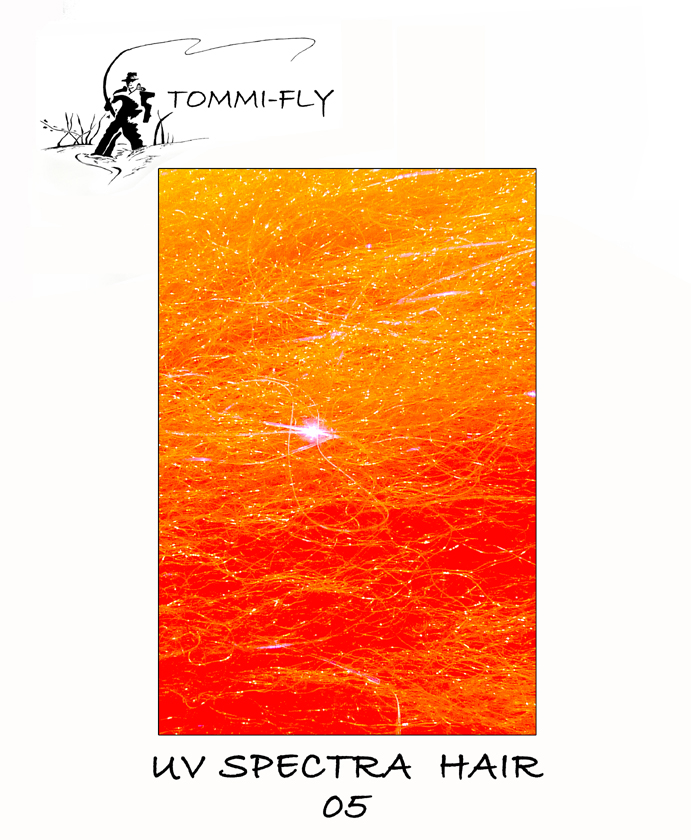 UV Spectra hair - Fluo Red