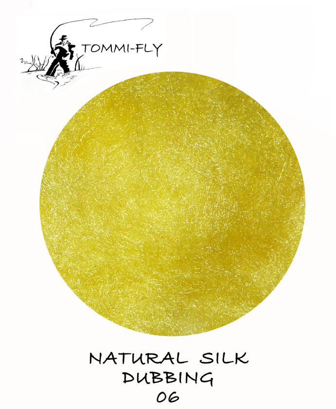 Natural SILK dubbing - Yellow