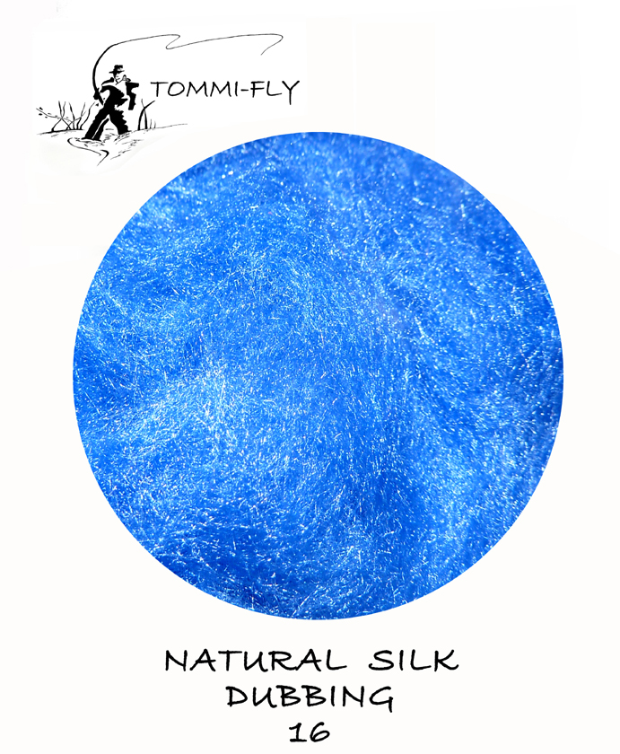 Natural SILK dubbing - Blue