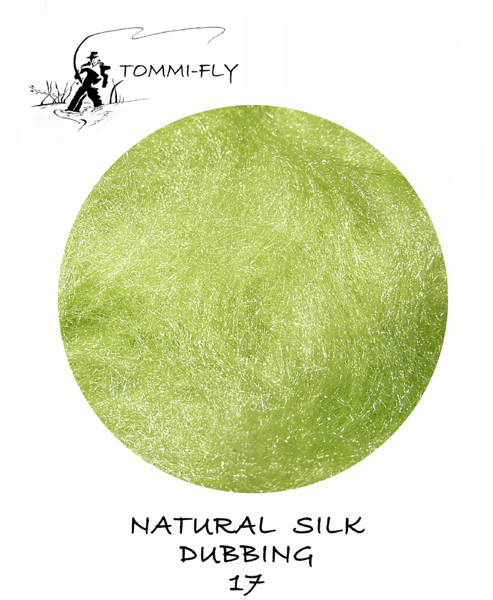 Natural SILK dubbing - Light Green