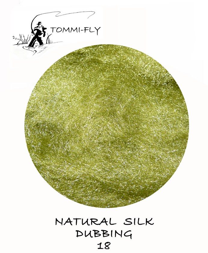 Natural SILK dubbing - Olive