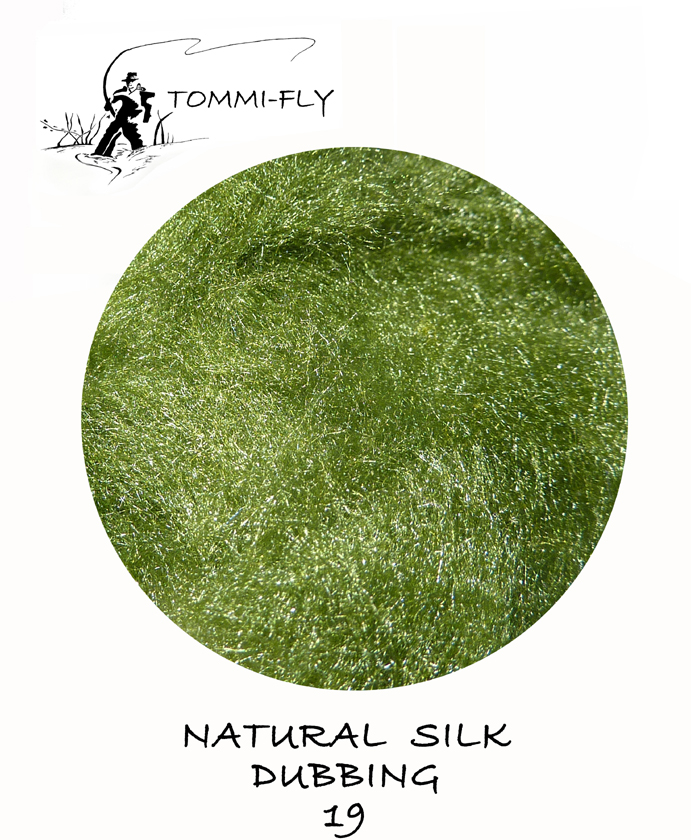 Natural SILK dubbing -  Dark Green