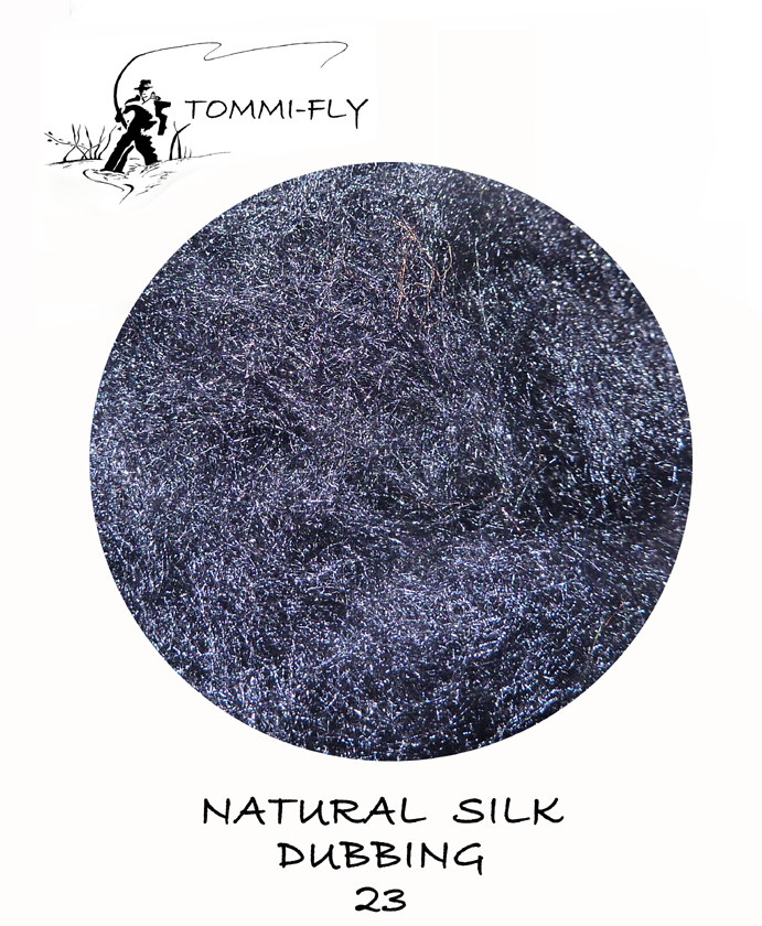 Natural SILK dubbing - Paris Blue Black