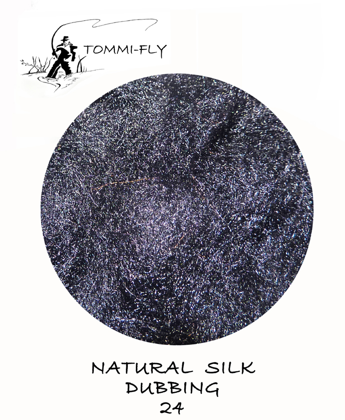 Natural SILK dubbing - Dark Black